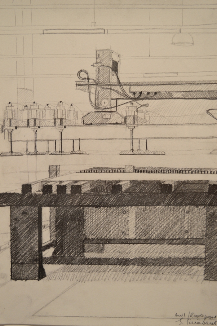 Joachim Schonfeldt, Factory Drawing Drawn In Situ, Matita B1 e B2 su carta Cartridge_Sketch da 180, 56. Esposizione Internazionale d'Arte - la Biennale di Venezia, All the World's Futures, My Photo g. 42 × 30 cm.,   - image #6
