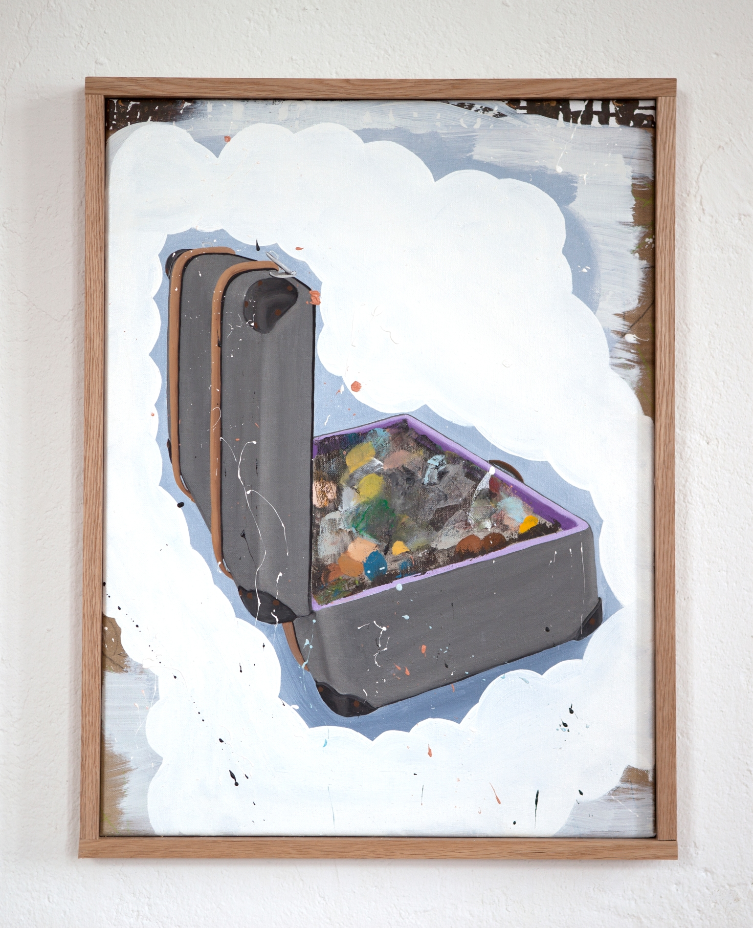 Lars Bjerre_The Robbery_Untitled, 45 x 60 cm. Oil on canvas.  Oak frame (48 x 63x4 cm). 2015