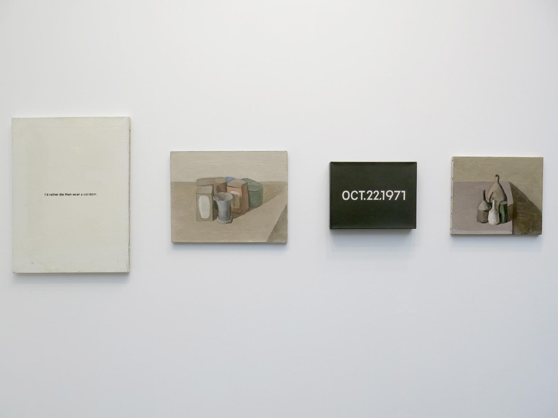 2 Giorgio Morandi, On Kawara, Giorgio Morandi, Richard Prince xxxxxxxx