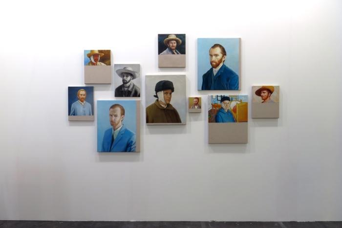 Christian Jankowski, Chinese Whisper - Neue Malerei (Van Gogh I-X), 2015. Courtesy Astuni Gallery